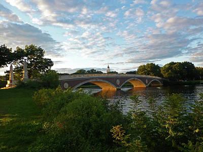 John Weeks Bridge In Harvard Square Cambridge Poster by Toby McGuire