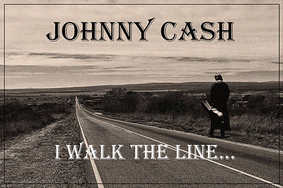 Johnny Cash Poster by Hans Wolfgang Muller Leg