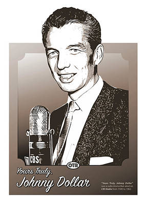 Johnny Dollar Poster by Greg Joens