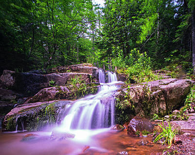 Johns Brook Trail Big Slide Mountain Keen Valley Ny Waterfall Poster