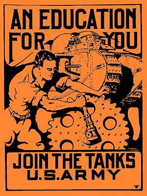 Join The Tanks Poster by Otis Porritt