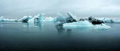 Poster featuring the photograph Jokulsarlon Glacier Lagoon Panorama by Brad Scott