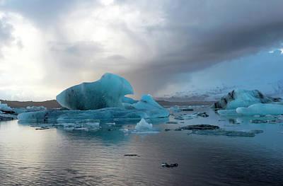 Poster featuring the photograph Jokulsarlon, The Glacier Lagoon, Iceland 4 by Dubi Roman