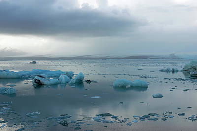 Poster featuring the photograph Jokulsarlon, The Glacier Lagoon, Iceland 1 by Dubi Roman