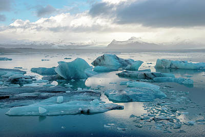 Poster featuring the photograph Jokulsarlon, The Glacier Lagoon, Iceland 6 by Dubi Roman