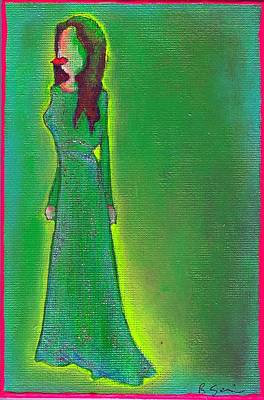 Jolie Green Poster by Ricky Sencion