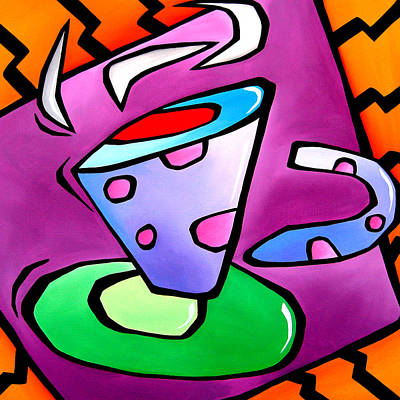 Jolt - Abstract Pop Art By Fidostudio Poster by Tom Fedro - Fidostudio
