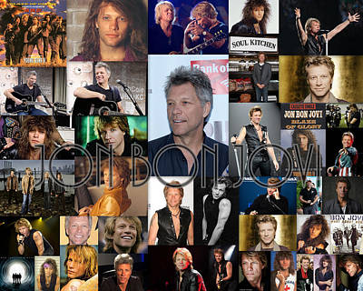 Jon Bon Jovi Collage  Poster by April Cook