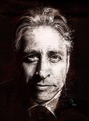 Jon Stewart Poster by Fay Helfer