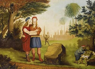 Jonathan And David At The Stone Poster