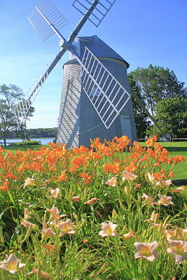 Jonathan Young Windmill Summer Lilies Cape Cod Poster by John Burk