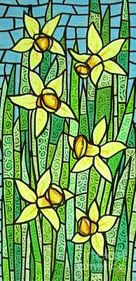 Poster featuring the painting Jonquil Glory by Jim Harris