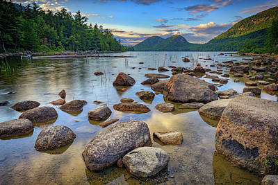 Jordan Pond And The Bubbles Poster by Rick Berk