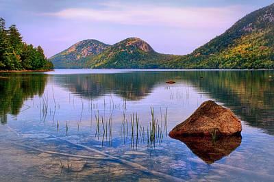 Jordan Pond In Acadia National Park Poster by Carolyn Derstine