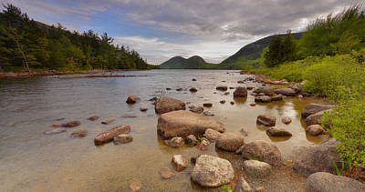 Poster featuring the photograph Jordan Pond  by Stephen  Vecchiotti