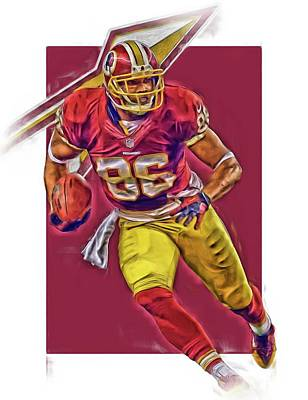 Jordan Reed Washington Redskins Oil Art Poster