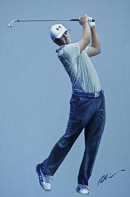 Jordan Spieth  Poster by Mark Robinson