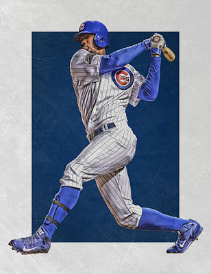 Jorge Soler Chicago Cubs Art Poster by Joe Hamilton