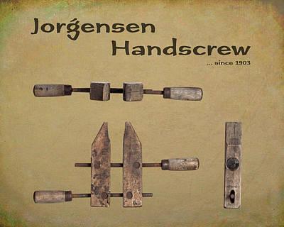 Poster featuring the photograph Jorgensen Handscrew by Tom Mc Nemar