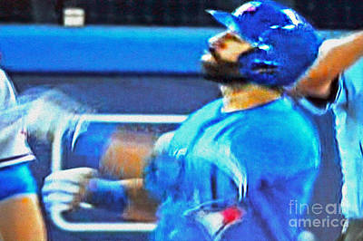 Jose Bautista's Famous Bat Flip Poster by Nina Silver