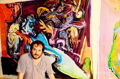 Jose Maria Antolin Before Painting Poster by Chuck Taylor