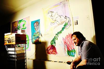 Jose Maria Antolin In Studio Bryan Poster by Chuck Taylor