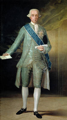Jose Monino, Count Of Floridablanca Poster by Francisco Goya