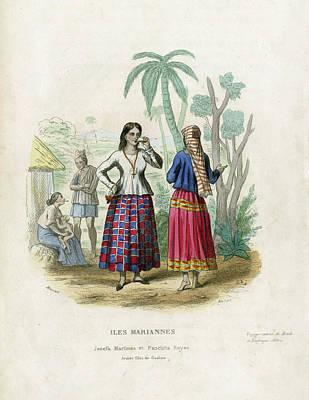 Poster featuring the drawing Josefa Martines Et Panchita Reyes by Massart