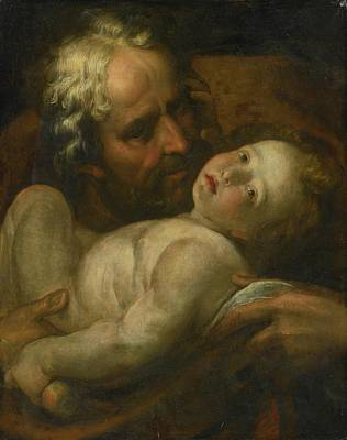 Joseph And The Infant Christ Poster