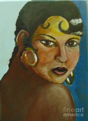 Poster featuring the painting Josephine Baker by Saundra Johnson