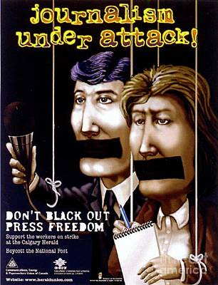 Journalism Under Attack Poster by Armand Roy