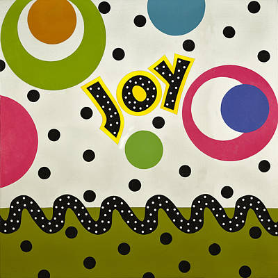 Poster featuring the mixed media Joy by Gloria Rothrock