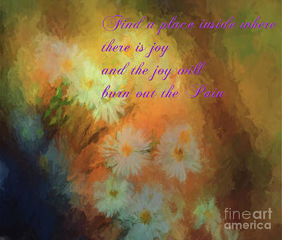 Poster featuring the mixed media Joy by Jim  Hatch