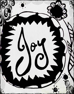 Poster featuring the drawing Joy by Rachel Maynard