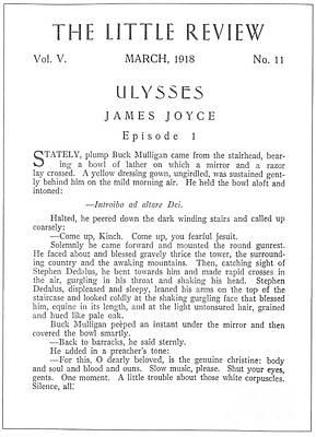 Joyce: Ulysses, 1918 Poster