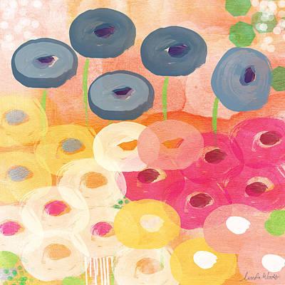 Joyful Garden 3 Poster by Linda Woods