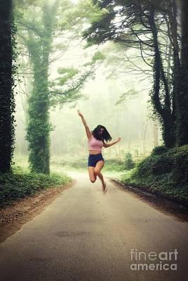 Joyful Jump Poster by Carlos Caetano