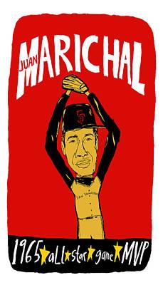 Juan Marichal San Francisco Giants Poster by Jay Perkins