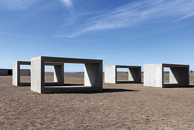 Judd's Cubes By Donald Judd In Marfa Poster