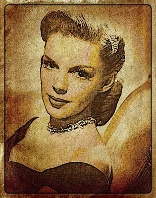 Judy Garland Vintage Hollywood Actress Poster by Esoterica Art Agency