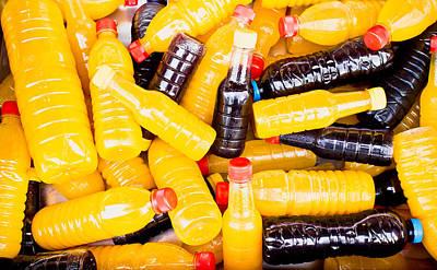 Juice Bottles Poster by Tom Gowanlock