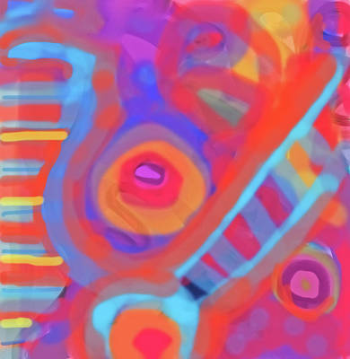 Poster featuring the painting Juicy Colored Abstract by Susan Stone