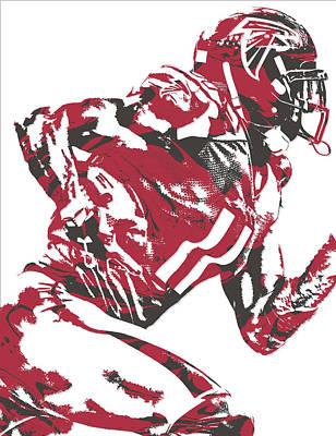 Julio Jones Atlanta Falcons Pixel Art 11 Poster