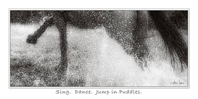 Jump In Puddles Poster by Joan Davis