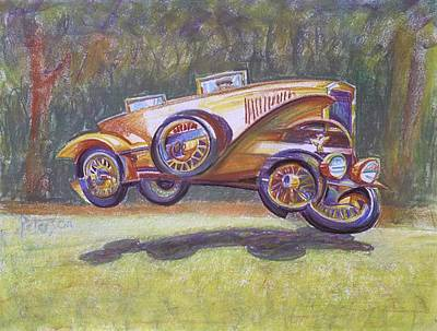 Jumpin Auburn Car Poster by Gary Peterson