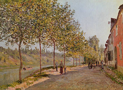 June Morning In Saint Mammes Poster by Alfred Sisley