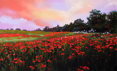 June Poppies Poster by Dianna Ponting