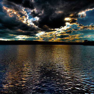 Poster featuring the photograph June Sunset On Nicks Lake by David Patterson