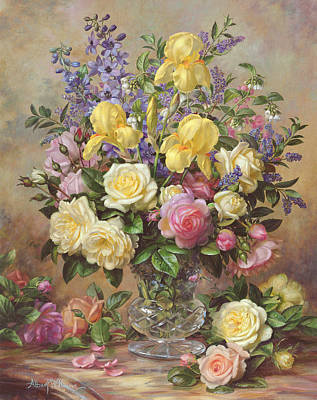 June's Floral Glory Poster by Albert Williams