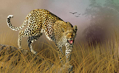 Jungle Attitude Poster by Diane Schuster